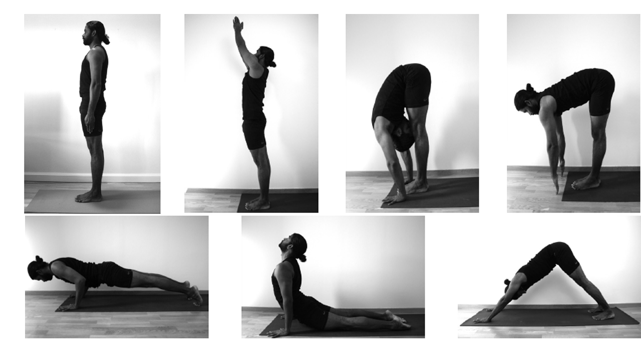 Surya Namaskara Or Sun Salutation Is A Warm Up Routine Based On Sequence Of Linked Asanas The Name Refers To Symbolism