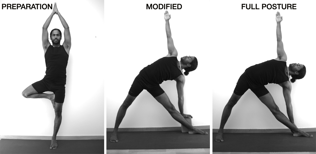 utrikonasana-buildup